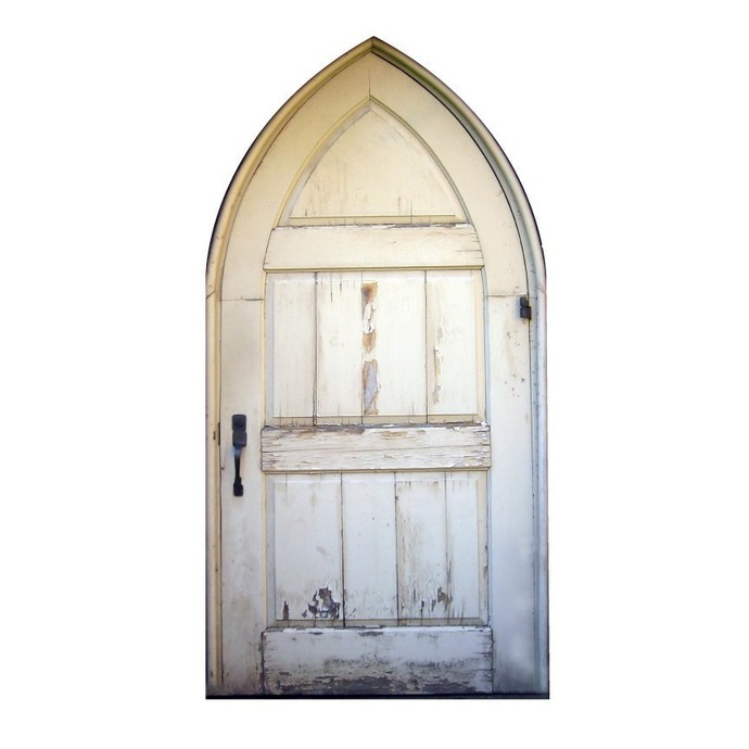"""Large Gothic Styled Door Wall Decal - 51"""" tall x 27"""" wide"""