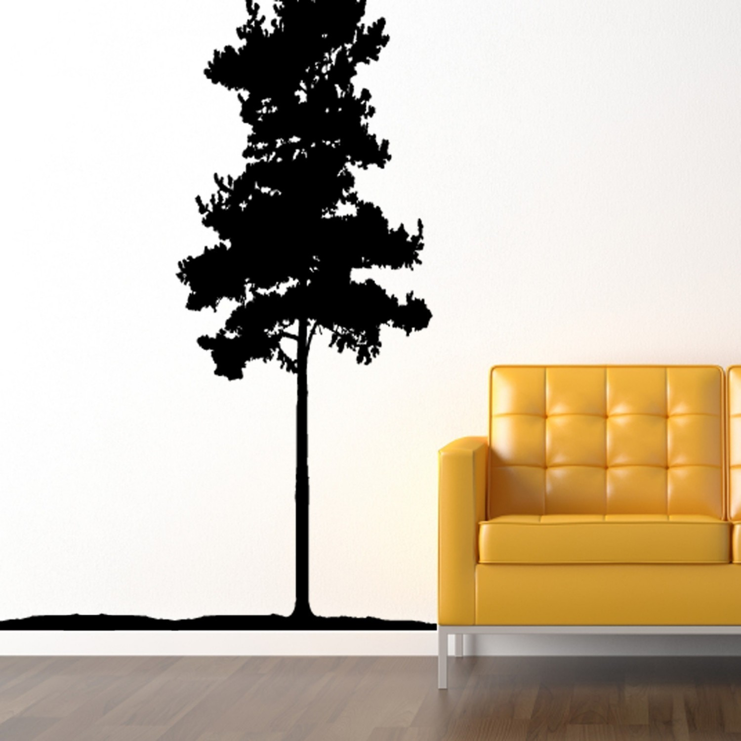 huge towering pine wall decal by on zibbet
