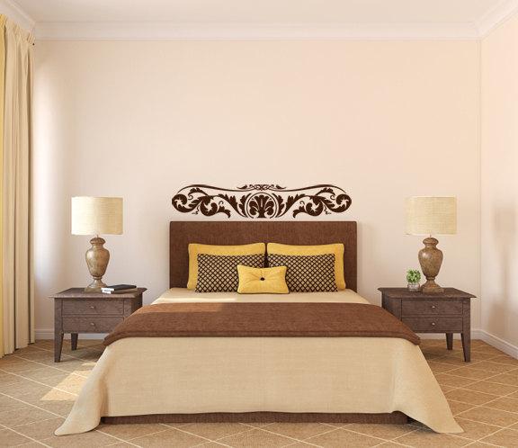 """Elegant Fern Flourish Wall Decal - 9"""" tall x 48"""" wide"""