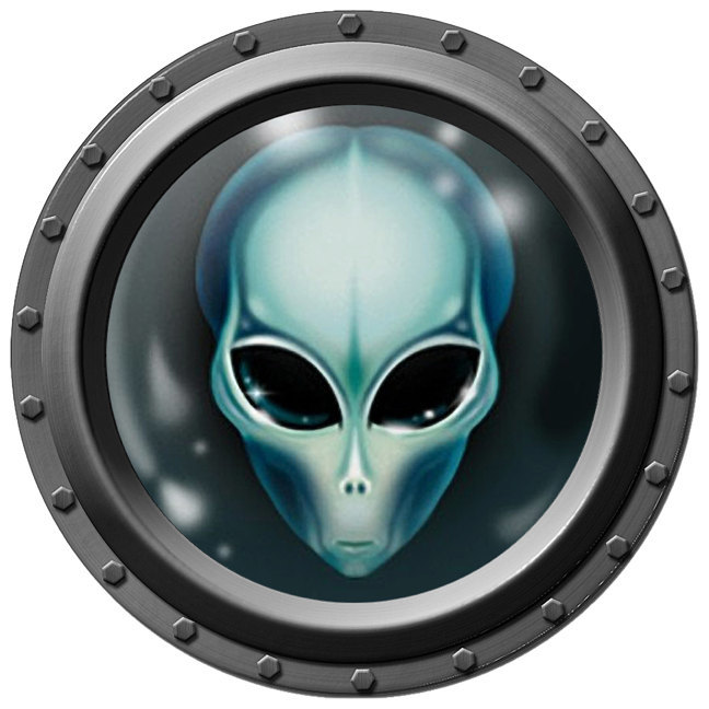 Alien Porthole Wall Decal