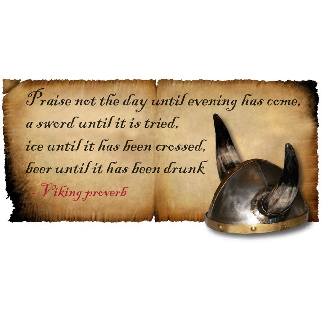 """Viking Beer Proverb Decal - 5"""" tall x 10"""" wide"""
