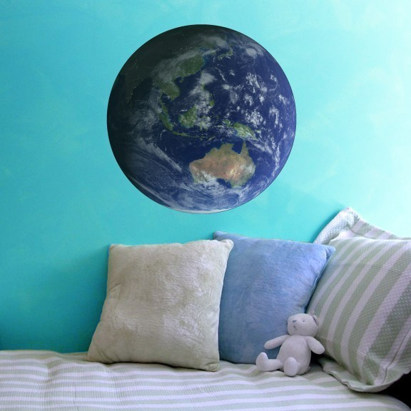 """The Earth Featuring Australia Wall Decal - 27"""" tall x 27"""" wide"""
