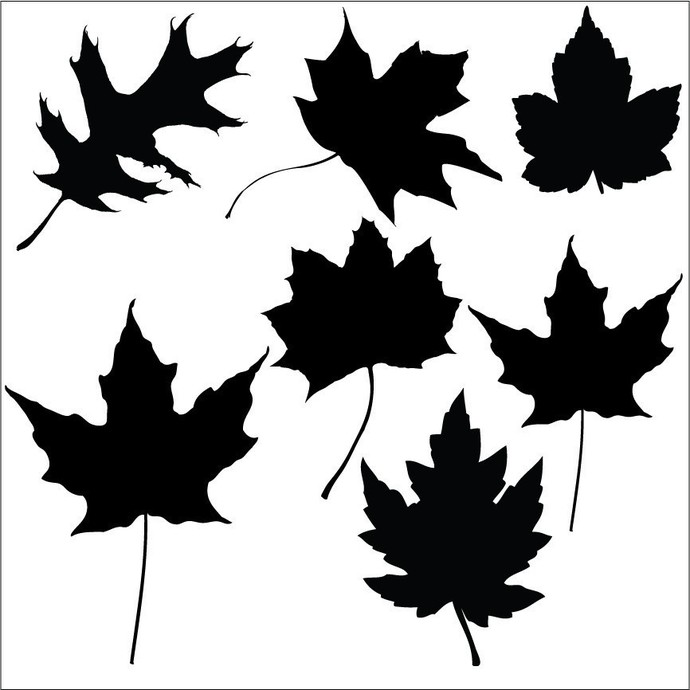 b1b117185e 7 Fall Leaves Decals - Sizing Information by WilsonGraphics on Zibbet