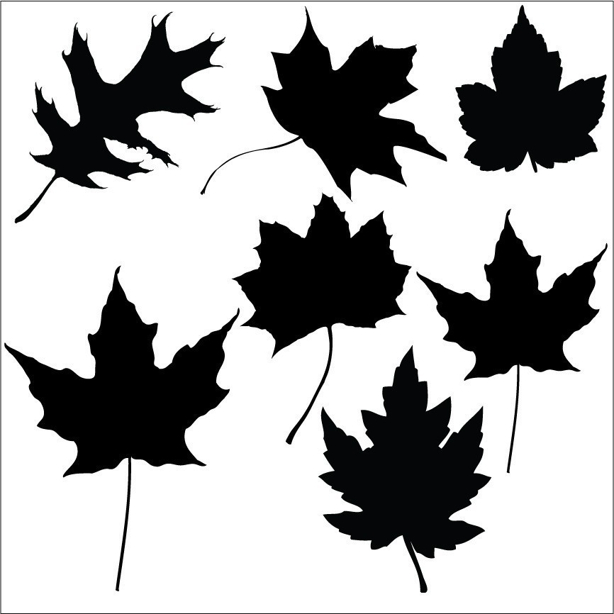 7 Fall Leaves Decals Sizing Inkwood Impressions