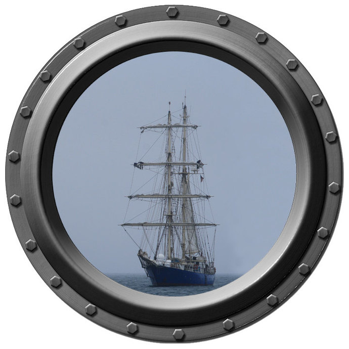 Silent Sentinel Porthole Wall Decal