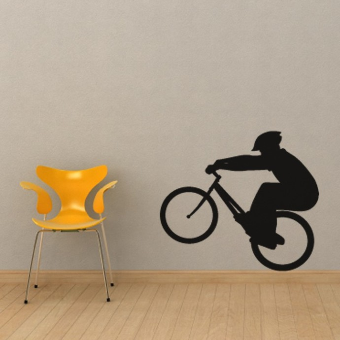 """BMX Bike Style Two Wall Decal - 30"""" tall x 26"""" wide"""
