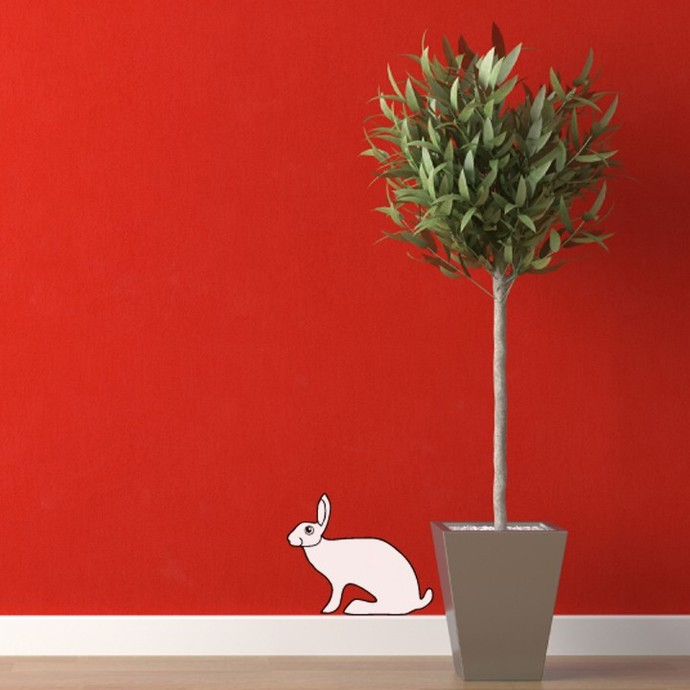 The Crouching Hare Wall Decal