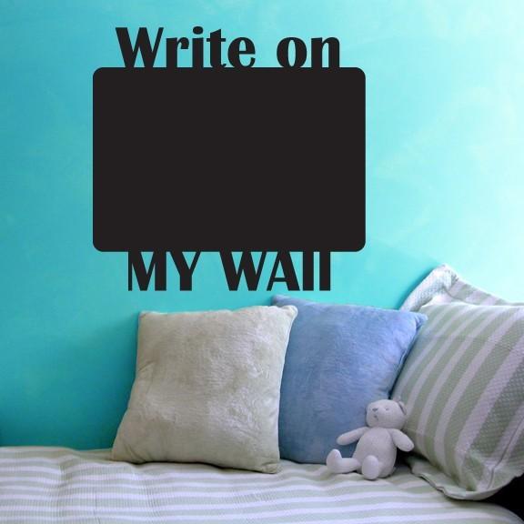 "Write on My Wall Chalkboard Wall Decal - 27"" tall x 25"" wide"