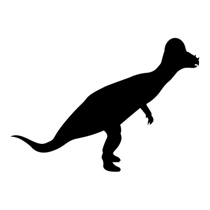 "Pachycephalosaurus Dinosaur Chalkboard Decal - 27"" tall x 19"" wide"