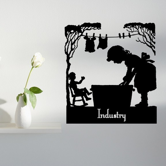 "Industry - Virtue Series Wall Decal - 30"" tall x 26"" wide"