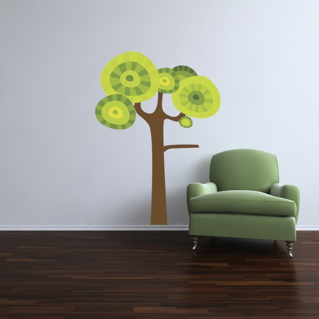 Large Cartoon Tree Vinyl Wall Decal