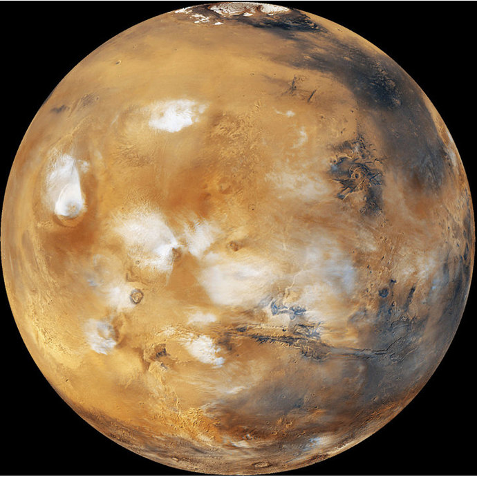 """Large Planet Mars Wall Decal - 27"""" tall x 27"""" wide"""