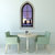 """The Two Sisters Standing Stones - Gothic Windowscape Wall Decal - 37"""" tall x 21"""""""