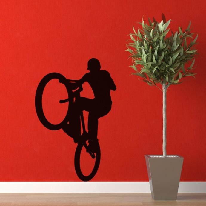 "BMX Bike Style 3 Wall Decal - 42"" tall x 28"" wide"