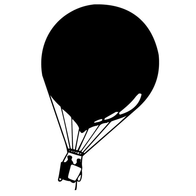 """The Hot Air Balloon Explorers Wall Decal - 40"""" tall x 25"""" wide"""