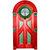 "Christmas Door Wall Decal - 11"" tall x 6"" wide"