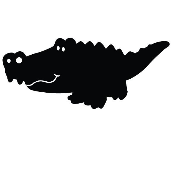 """Alligator Chalkboard Wall Decal - 12"""" tall x 28"""" wide"""