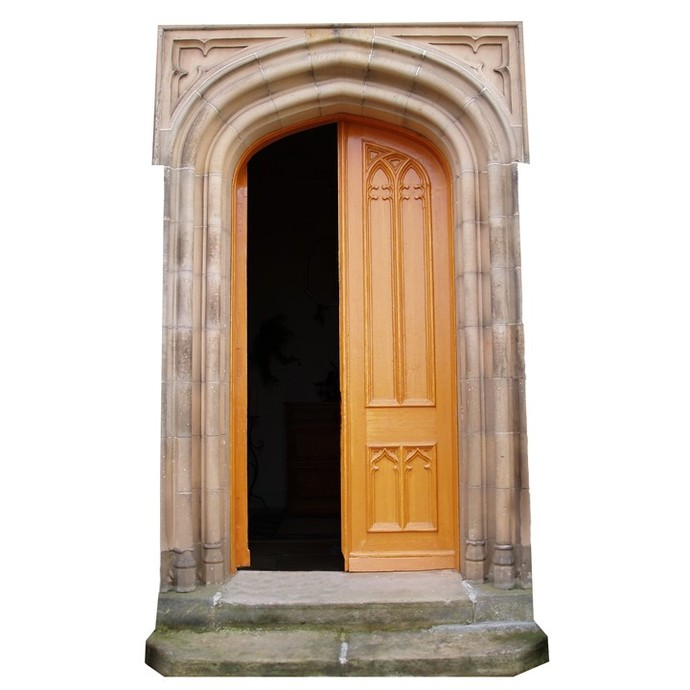 "Open Fairy Door Wall Decal - 10"" tall x 6"" wide"