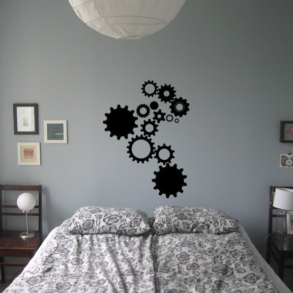 """Steampunk Gears Design Two - 35"""" tall x 26"""" wide"""