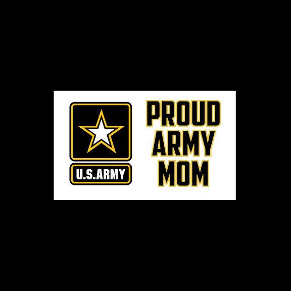 Proud Army Mom Vinyl Bumpersticker Decal