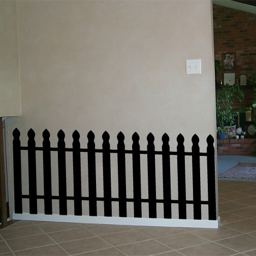 Large Picket Fence Wall Decal 26 inch by 54 inch