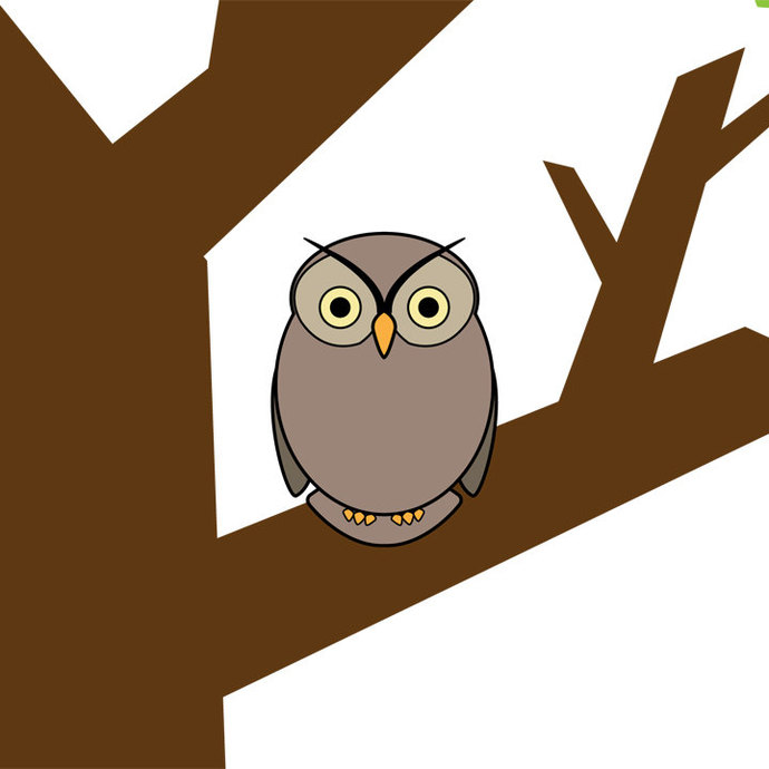 Owl Tree Wall Graphic Vinyl Decals