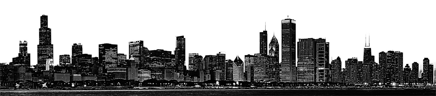 Chicago Skyline Large Vinyl Wall Graphic