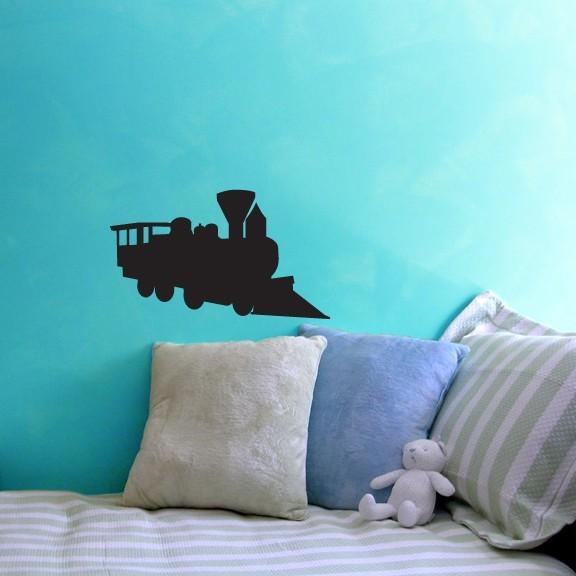 """Train Chalkboard Wall Decal - 12"""" tall x 20"""" wide"""