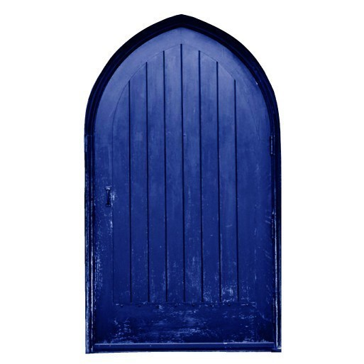 Fae Door Series Blue Gothic Style Vinyl Wall Decal