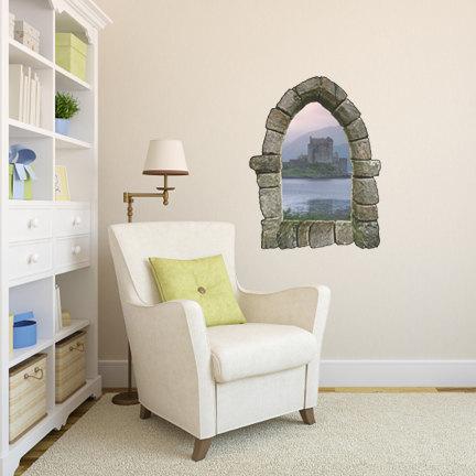 Castle Window Wall Decal Design 1