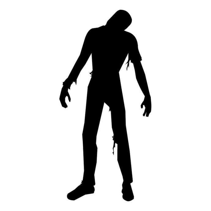 """Zombie Wall Decal Design Two - 57"""" tall x 28"""" wide"""