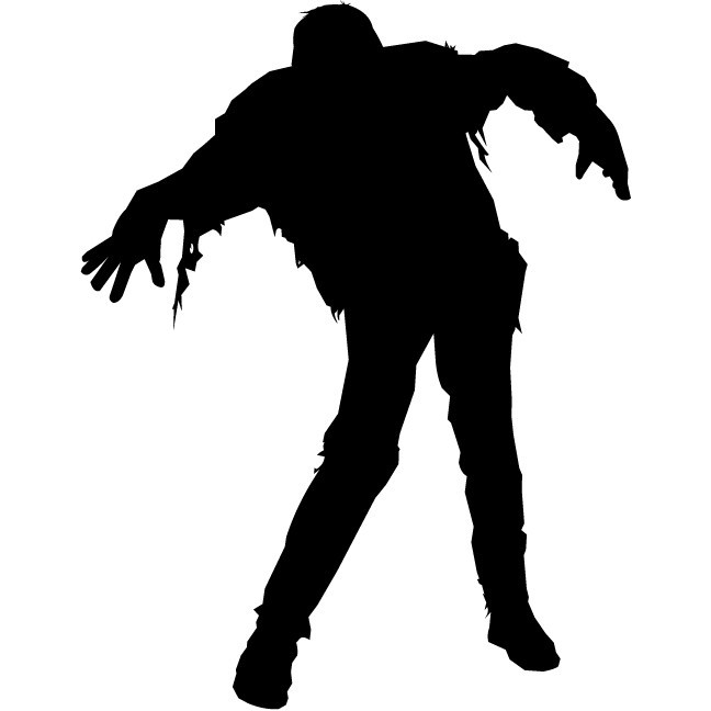 """Zombie Wall Decal Design One - 36"""" tall x 28"""" wide"""