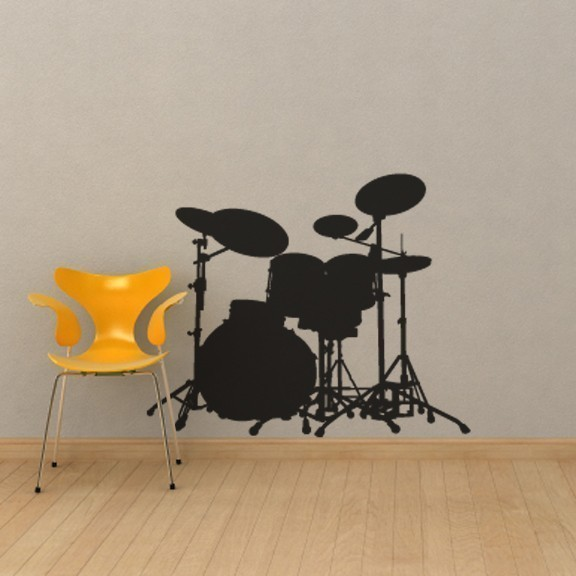 Drum Set Vinyl Wall Decal for Rock Stars