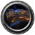 Earth Cities at Night Porthole Wall Decal
