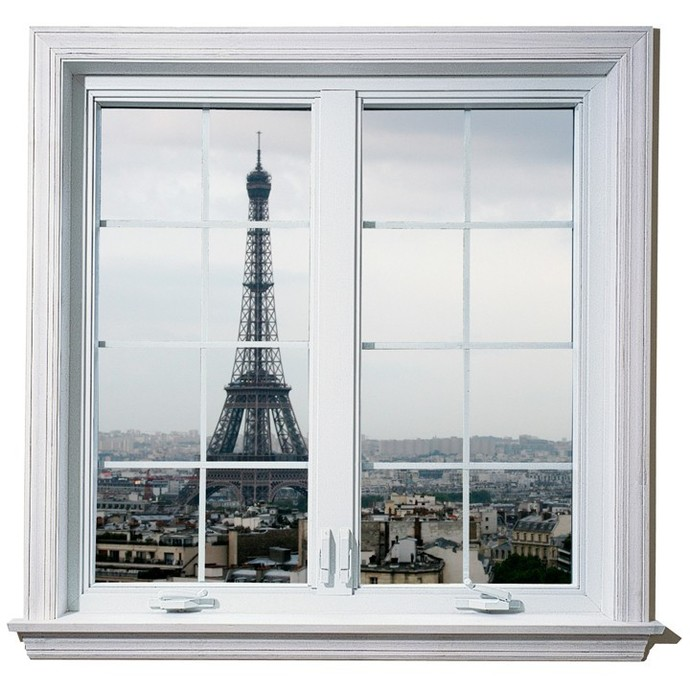 Windowscape France Series - The Eifel Tower Vinyl Wall Decal