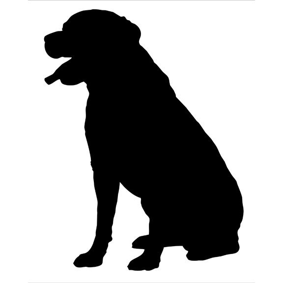 Rottweiler Silhouette Wall Decal