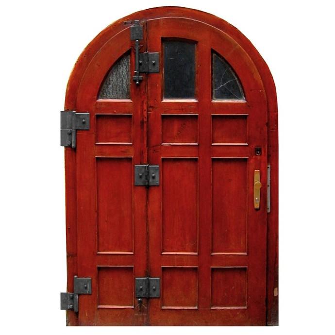 "Reddish Brown Fairy Door Wall Decal - 12"" tall x 8"" wide"