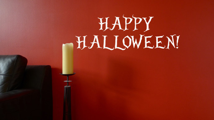 Happy Halloween Cut Vinyl Text Decal