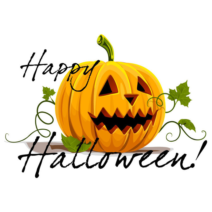 "Reusable Halloween Decal - Happy Halloween Fabric Wall Decal - 20"" tall x 27"""