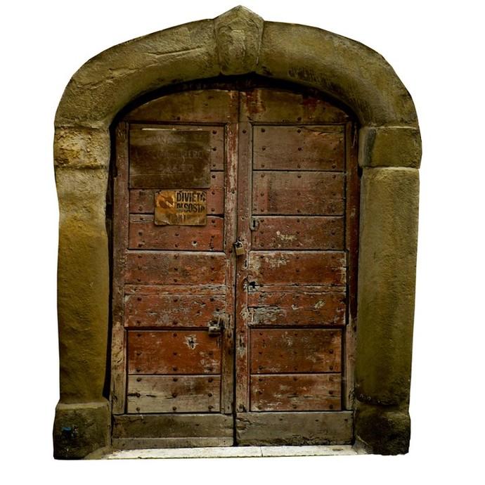 """Locked Fairy Door Wall Decal - 10"""" tall x 8"""" wide"""
