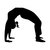 """Yoga Pose 3 Wall Decal - 28"""" tall x 33"""" wide"""
