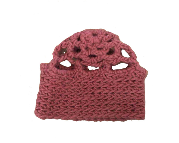Rose Crocheted Beanie