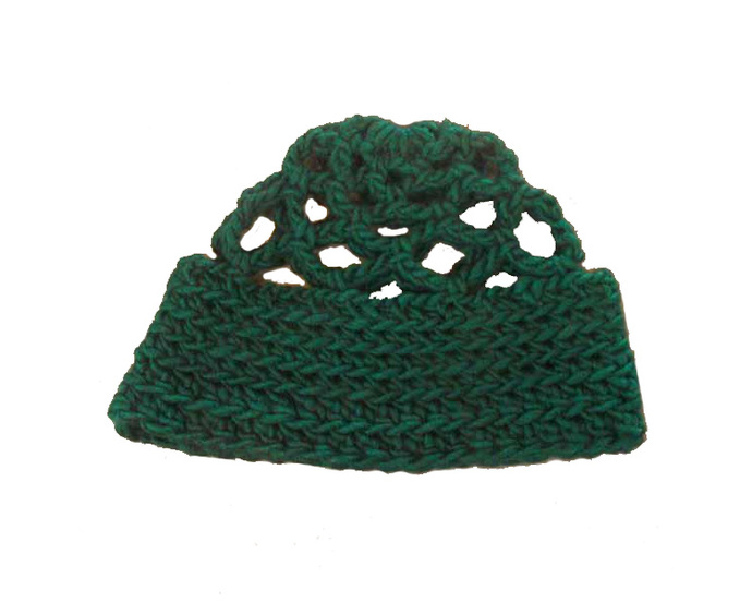 Green Crocheted Beanie