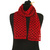 Red Checkerboard Cotton Scarf