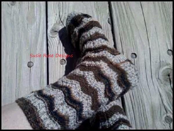 3 Peat Knitted Sock Pattern - PDF - Experienced Beginner