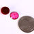 6 Fuchsia pink faceted round resin cabochon 11mm - Crackle pattern cabochon -