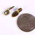 10 antique bronze teardrop bail - antique brass glue on bail - flat pad bail -