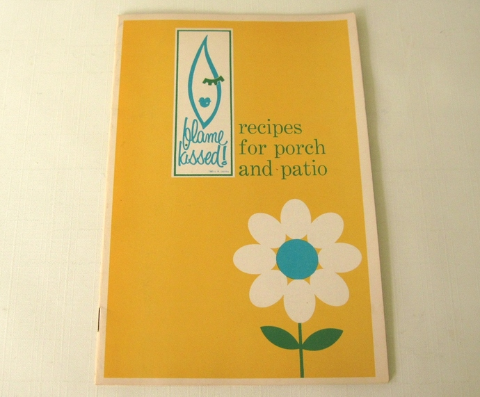 Vintage Flame Kissed Grill Recipe Booklet for Mid Century Outdoor Gas BBQ Grill