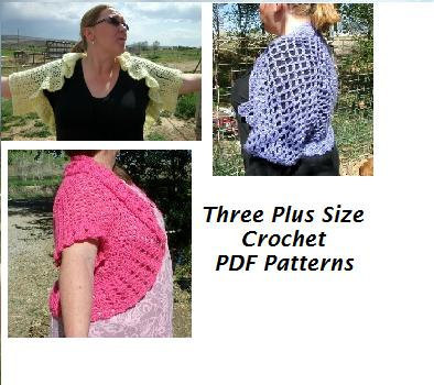 Crochet Shrug Plus Size Patterns Digital Pdf Copperllama