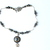 SOLD- Tube Necklace, Black White Pendant Necklace, Heart Charm, Trending Fashion